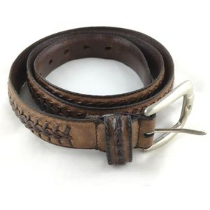 1dfcafb44b78 Other - Buffalo leather belt brown braided brass buckle 38